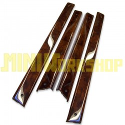 TAPPETI PORTA IN BURR WALNUT SET DI 4