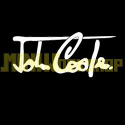 "ADESIVO FIRMA ""JOHN COOPER"" DIM. 17x8 - COLORE BIANCO"