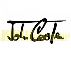 """ADESIVO FIRMA """"JOHN COOPER"""" DIM. 17x8 - COLORE NERO"""