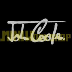 """ADESIVO FIRMA """"JOHN COOPER"""" DIM. 17x8 - COLORE ARGENTO"""